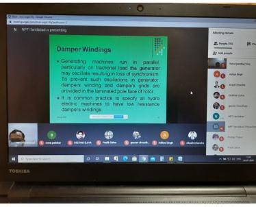 Session by Sh. Mahendra Singh, Assistant Director, NPTI Faridabad